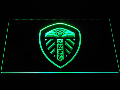 Image of Leeds United Football Club LED Neon Sign - Green - SafeSpecial