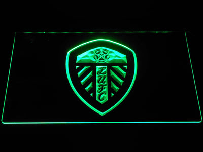 Leeds United Football Club LED Neon Sign - Green - SafeSpecial