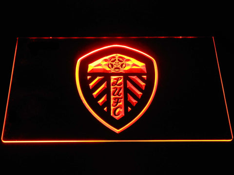 Image of Leeds United Football Club LED Neon Sign - Orange - SafeSpecial