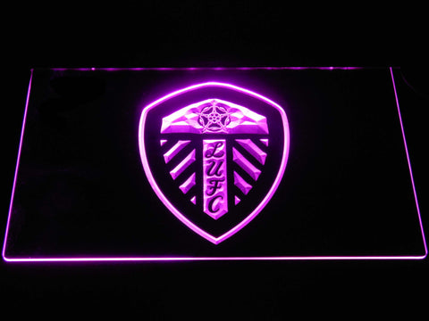 Image of Leeds United Football Club LED Neon Sign - Purple - SafeSpecial