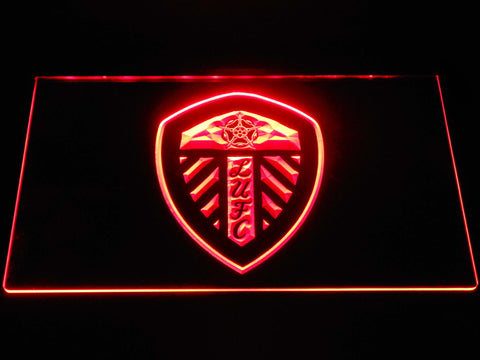 Image of Leeds United Football Club LED Neon Sign - Red - SafeSpecial