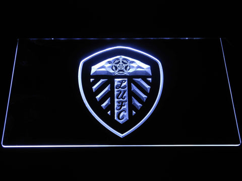 Image of Leeds United Football Club LED Neon Sign - White - SafeSpecial