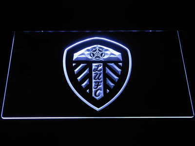 Leeds United Football Club LED Neon Sign - White - SafeSpecial