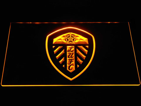 Image of Leeds United Football Club LED Neon Sign - Yellow - SafeSpecial