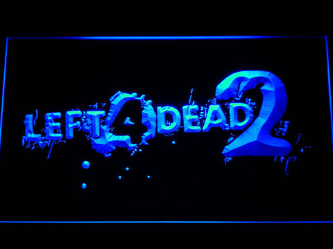 Image of Left 4 Dead 2 LED Neon Sign - Blue - SafeSpecial