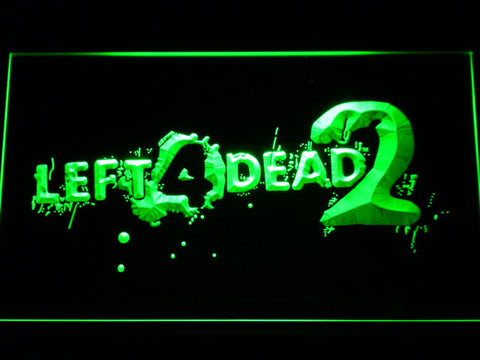 Image of Left 4 Dead 2 LED Neon Sign - Green - SafeSpecial