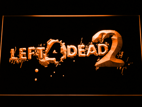 Image of Left 4 Dead 2 LED Neon Sign - Orange - SafeSpecial