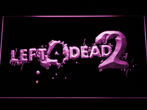 Image of Left 4 Dead 2 LED Neon Sign - Purple - SafeSpecial