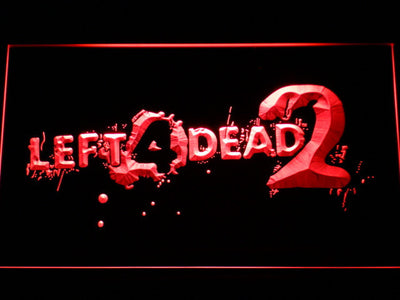 Left 4 Dead 2 LED Neon Sign - Red - SafeSpecial