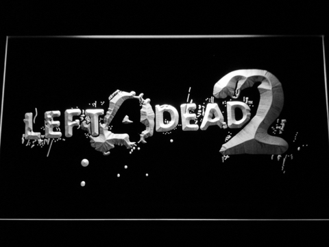 Image of Left 4 Dead 2 LED Neon Sign - White - SafeSpecial