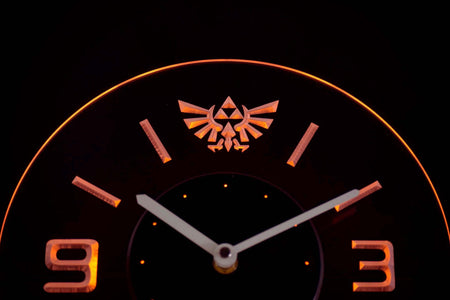 Legend Of Zelda Triforce Modern LED Neon Wall Clock - Yellow - SafeSpecial