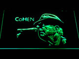 Leonard Cohen Face LED Neon Sign - Green - SafeSpecial