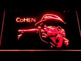 Leonard Cohen Face LED Neon Sign - Red - SafeSpecial