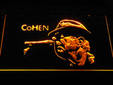 Leonard Cohen Face LED Neon Sign - Yellow - SafeSpecial