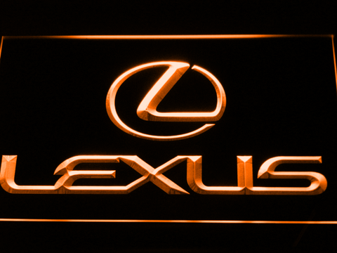Image of Lexus LED Neon Sign - Orange - SafeSpecial