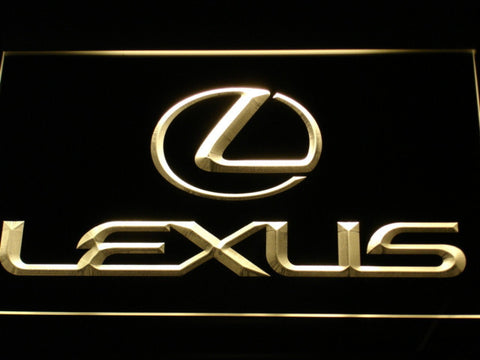 Image of Lexus LED Neon Sign - Yellow - SafeSpecial