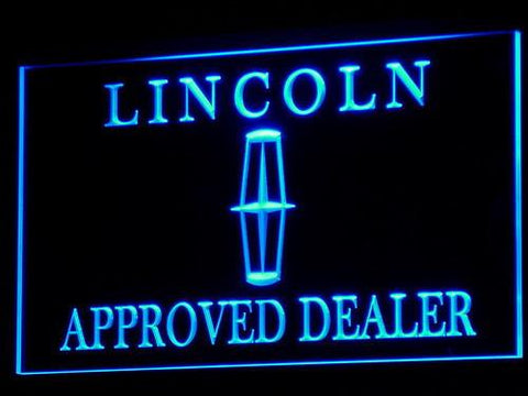 Image of Lincoln Approved Dealer LED Neon Sign - Blue - SafeSpecial