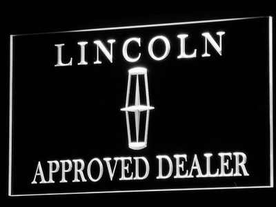 Lincoln Approved Dealer LED Neon Sign - White - SafeSpecial