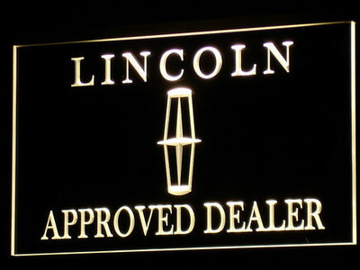 Lincoln Approved Dealer LED Neon Sign - Yellow - SafeSpecial