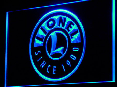 Image of Lionel Trains LED Neon Sign - Blue - SafeSpecial