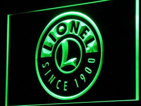 Image of Lionel Trains LED Neon Sign - Green - SafeSpecial