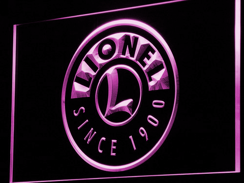 Image of Lionel Trains LED Neon Sign - Purple - SafeSpecial