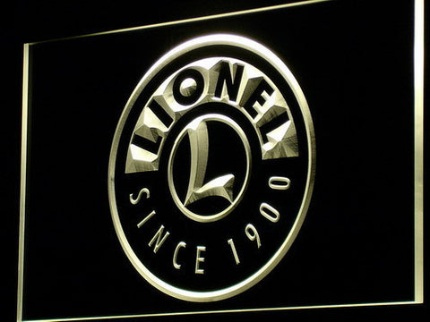 Image of Lionel Trains LED Neon Sign - Yellow - SafeSpecial