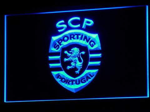 Lisbon Sporting Clube de Portugal LED Neon Sign - Blue - SafeSpecial