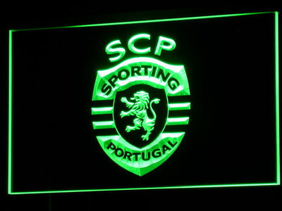 Lisbon Sporting Clube de Portugal LED Neon Sign - Green - SafeSpecial