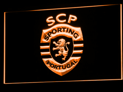 Lisbon Sporting Clube de Portugal LED Neon Sign - Orange - SafeSpecial