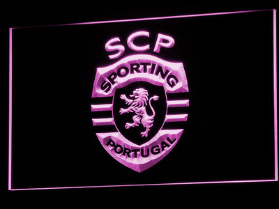 Lisbon Sporting Clube de Portugal LED Neon Sign - Purple - SafeSpecial