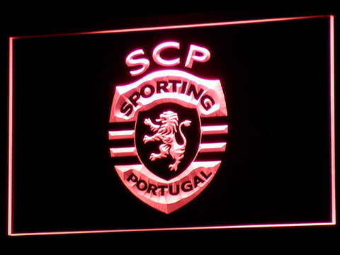 Lisbon Sporting Clube de Portugal LED Neon Sign - Red - SafeSpecial