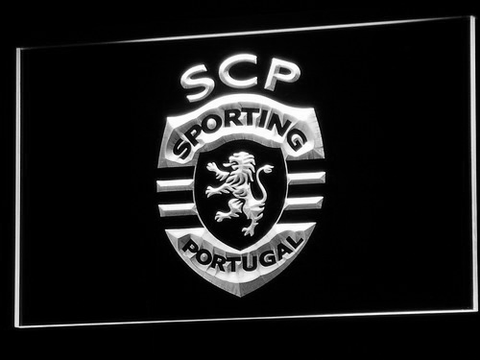 Lisbon Sporting Clube de Portugal LED Neon Sign - White - SafeSpecial