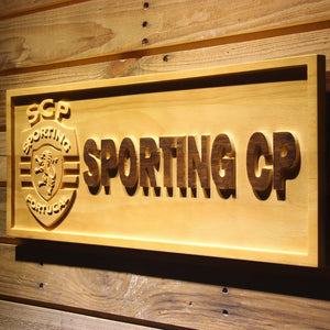 Lisbon Sporting Clube de Portugal Wooden Sign - - SafeSpecial