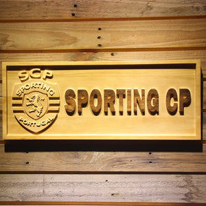 Lisbon Sporting Clube de Portugal Wooden Sign - Small - SafeSpecial