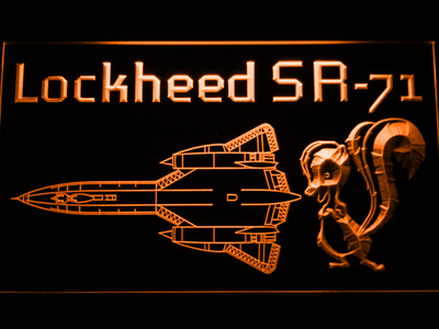 Lockheed SR-71 Aircraft LED Neon Sign - Orange - SafeSpecial