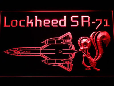 Lockheed SR-71 Aircraft LED Neon Sign - Red - SafeSpecial