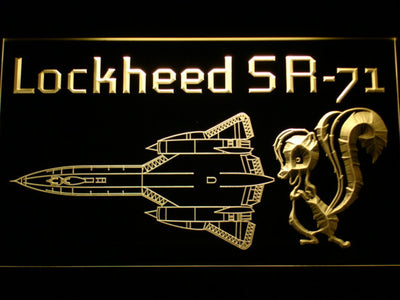 Lockheed SR-71 Aircraft LED Neon Sign - Yellow - SafeSpecial