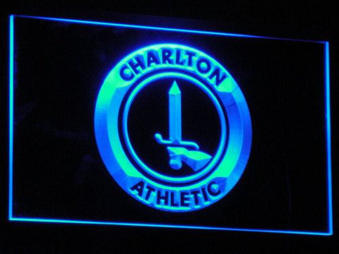 Image of London Charlton Athletic FC LED Neon Sign - Blue - SafeSpecial
