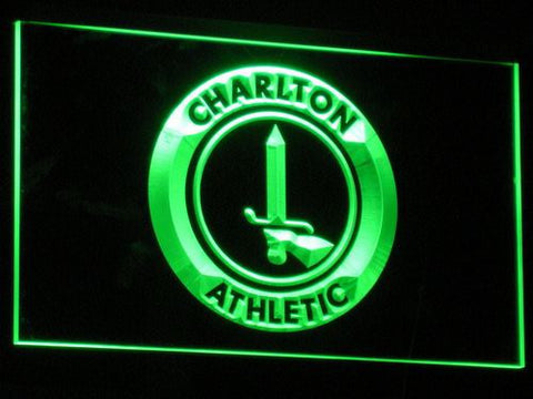 London Charlton Athletic FC LED Neon Sign - Green - SafeSpecial