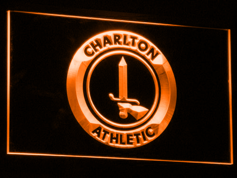Image of London Charlton Athletic FC LED Neon Sign - Orange - SafeSpecial