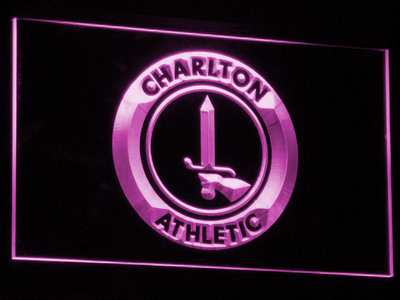 London Charlton Athletic FC LED Neon Sign - Purple - SafeSpecial