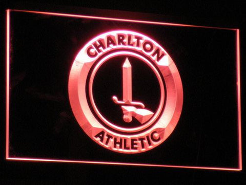 Image of London Charlton Athletic FC LED Neon Sign - Red - SafeSpecial