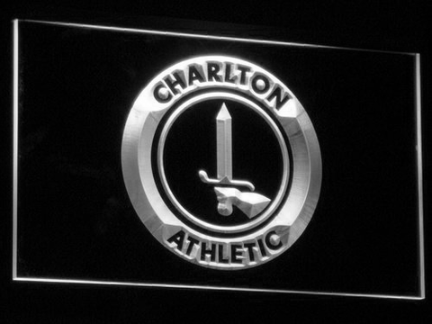 Image of London Charlton Athletic FC LED Neon Sign - White - SafeSpecial