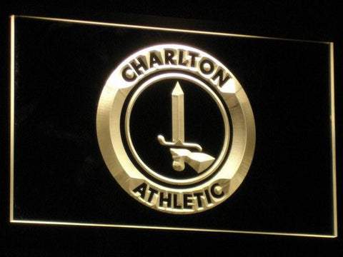 Image of London Charlton Athletic FC LED Neon Sign - Yellow - SafeSpecial