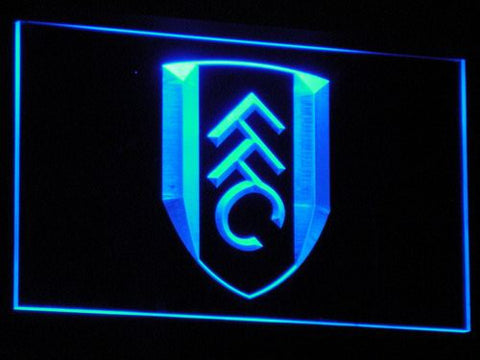 London Fulham FC LED Neon Sign - Blue - SafeSpecial
