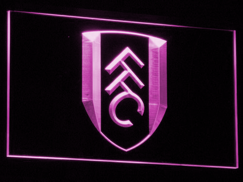 London Fulham FC LED Neon Sign - Purple - SafeSpecial