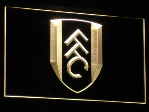 London Fulham FC LED Neon Sign - Yellow - SafeSpecial