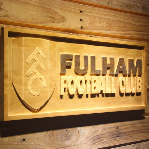 Image of London Fulham FC Wooden Sign - - SafeSpecial