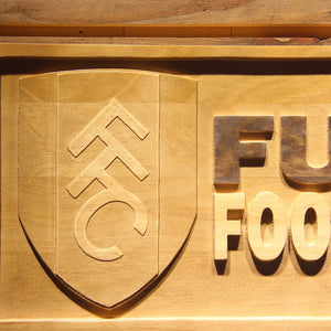 London Fulham FC Wooden Sign - - SafeSpecial